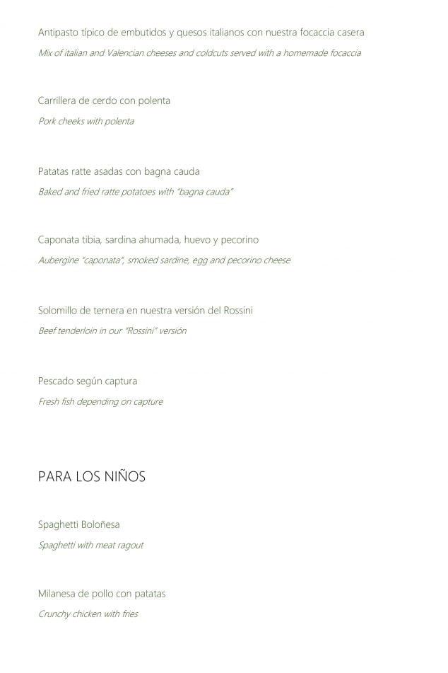 Imagen: Nueva carta en el Restaurante Da Giulia, página 2