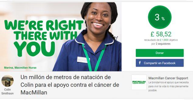 Imagen: Página de donativos