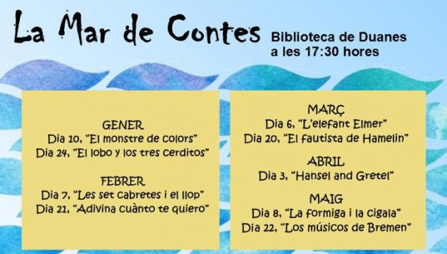 Image: Storytelling Programming at Mar de Contes in the Duanes Library