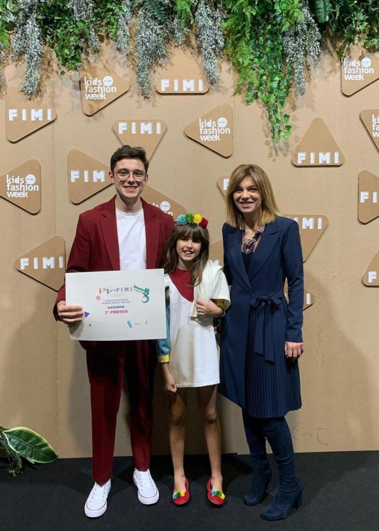 Rubén Bisquert tras obtener el premio de la Feria Internacional de Moda