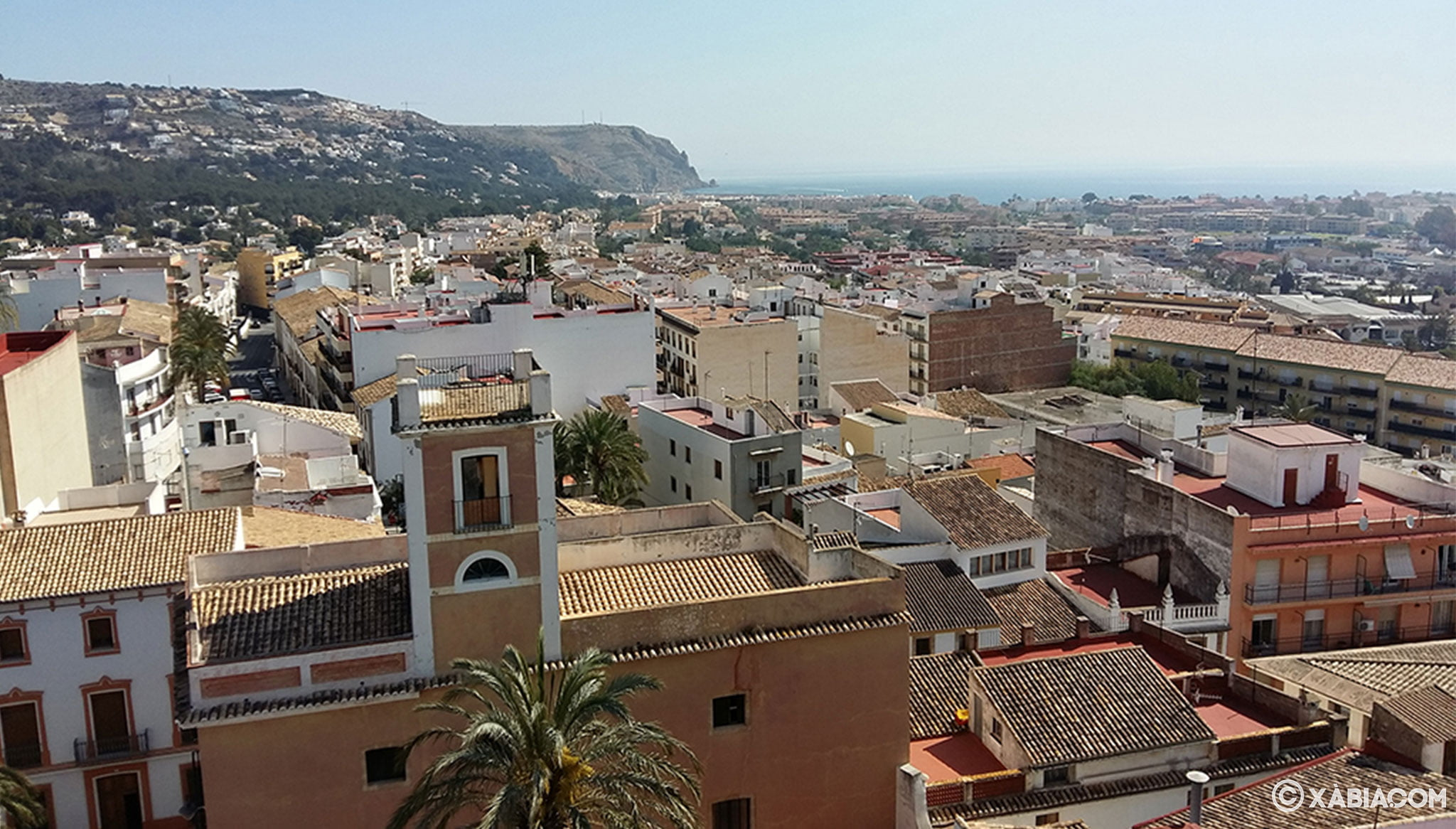 Vistas al mar desde la Iglesia de San Bartolomé de Jávea