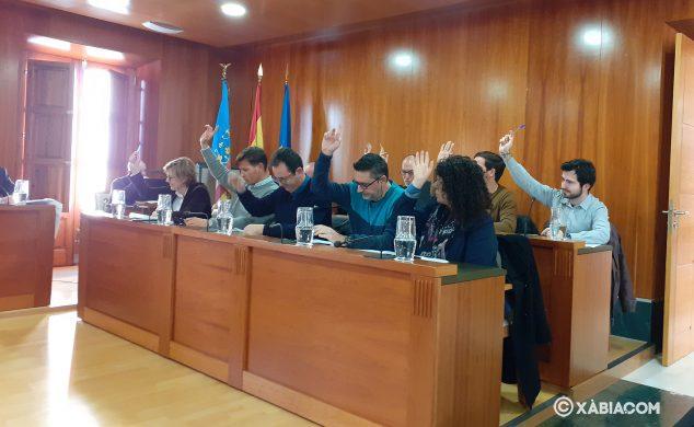 Imagen: Votación de la moción popular sobre acciones por el temporal