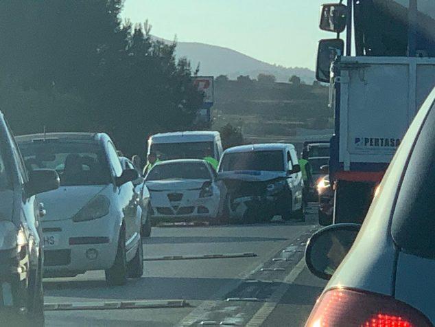 Imagen: Accidente en la carretera de Gata-Xàbia