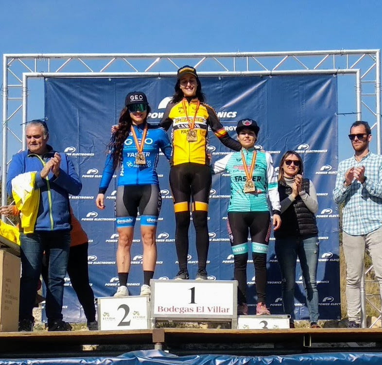 Alicia Margalejo en el podio
