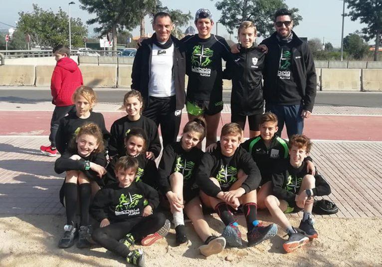 Atletes de CA Llebeig Xàbia en l'autonòmic de Cros