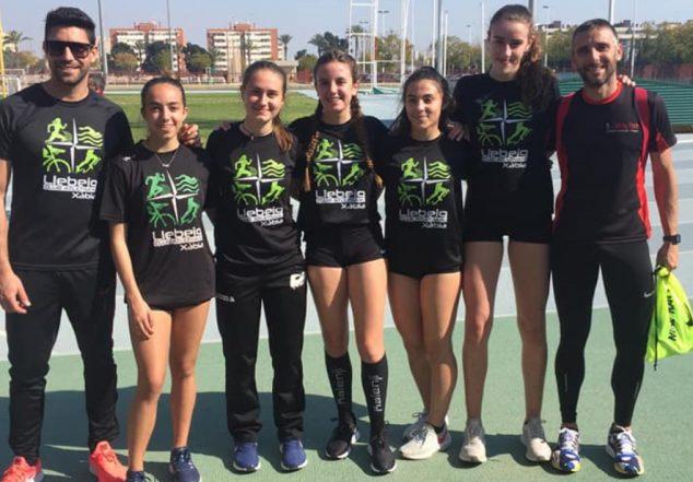 Imatge: Atletes de CA Llebeig Xàbia en el provincial