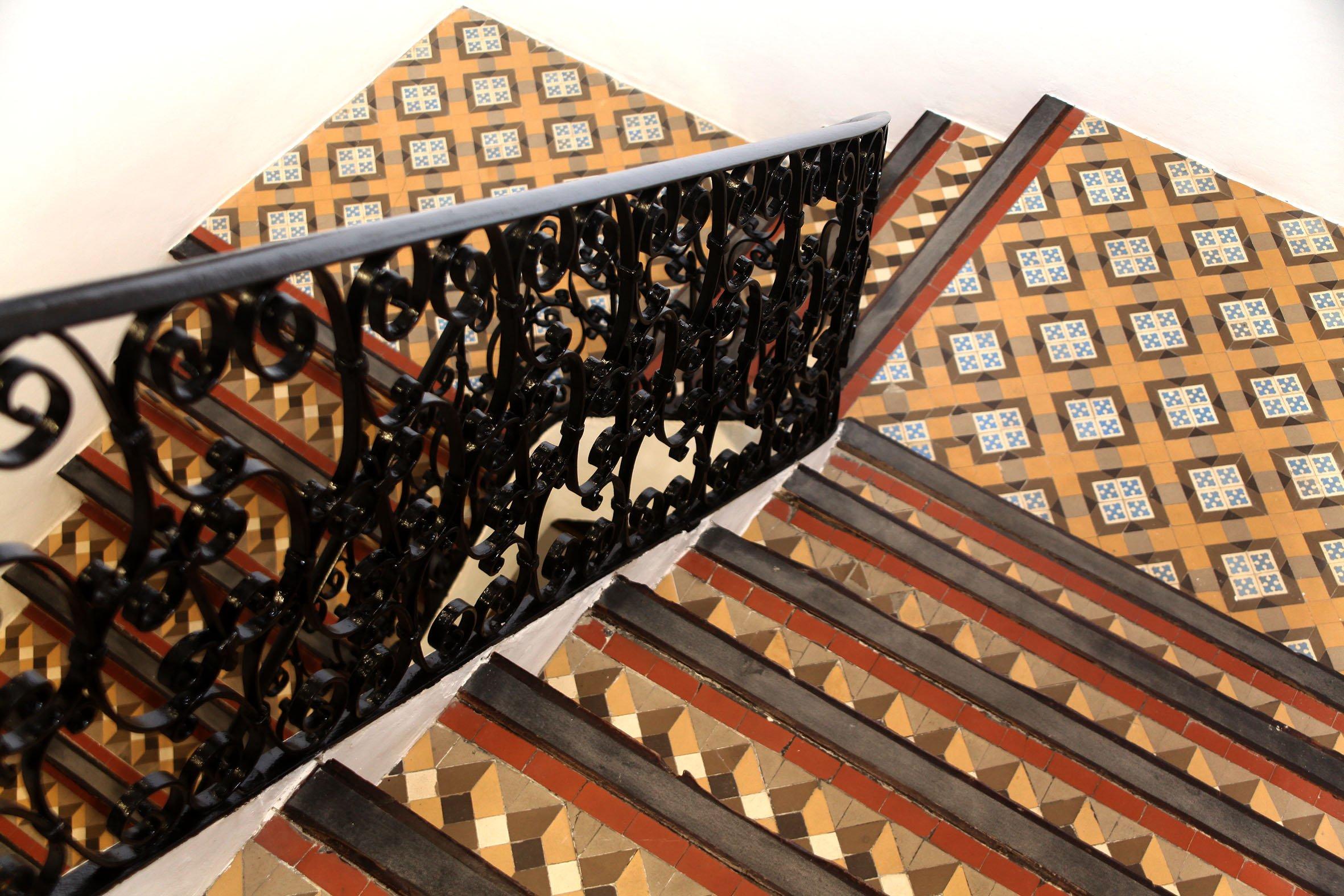 Baldosas de barro originales de la Casa Palacio