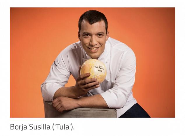 Imagen: Borja Susilla, chef de Tula con el Sol Repsol