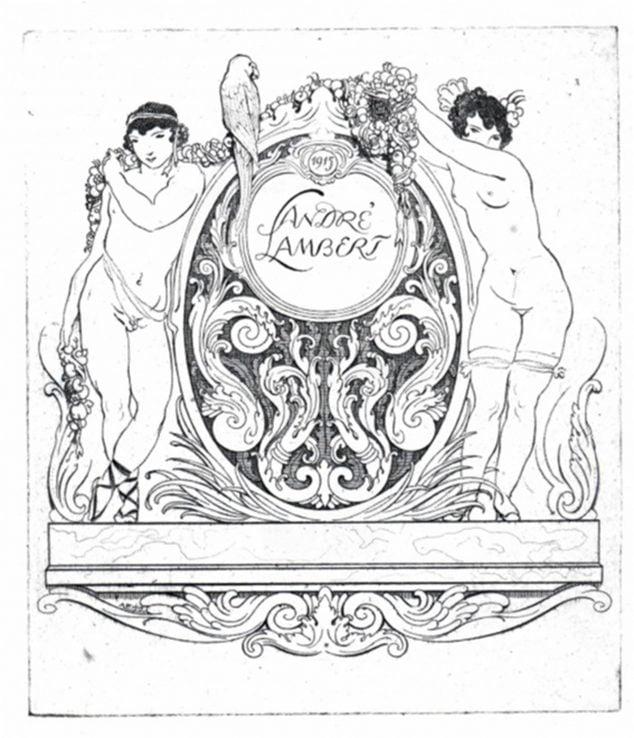 Imagen: Cartel de André Lambert con figuras clásicas
