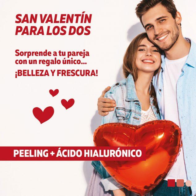 Imagen: Cartel con una idea para regalar en San Valentín - Clínica Estética Castelblanque