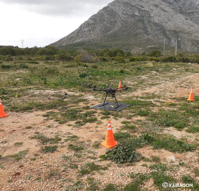 Imagen: Dron para la búsqueda de personas de Generalitat