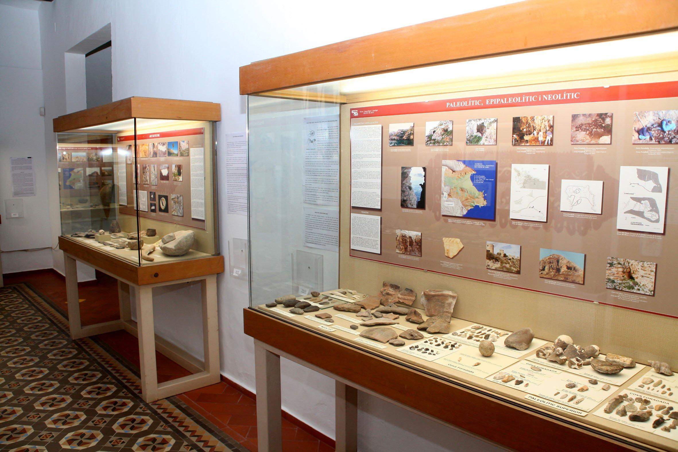 Exposición de hallazgos de la época del Neolítico y Paleolítico