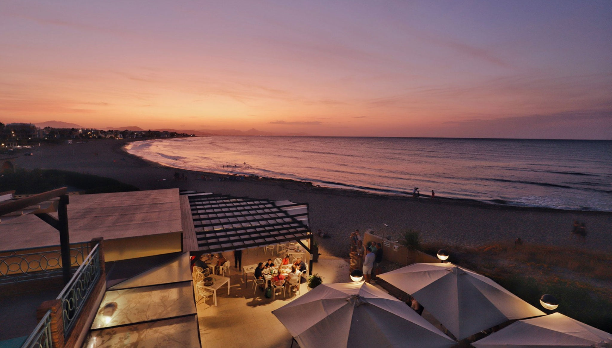 Atardeceres increíbles en Dénia en Restaurant Noguera