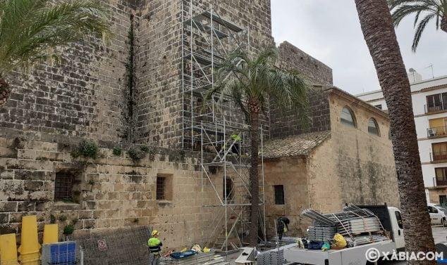Imagen: Inicio de las obras de restauración de la iglesia San Bartolomé
