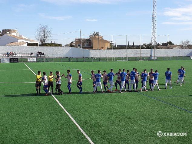 Bild: Beginn des Spiels zwischen CD Jávea und UD Canals