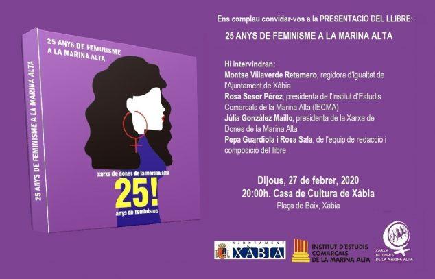 Imagen: invitacio presen  25 anys de feminisme