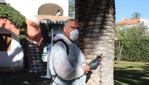 José Felix Turpin durante su jornada laboral habitual