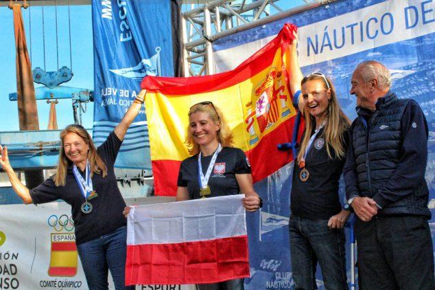 Imagen: Las españolas en el podio