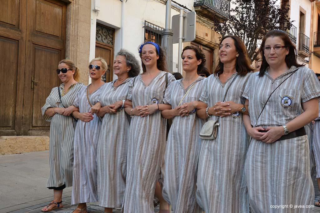 Filà de mujeres de la Filà Almoradins