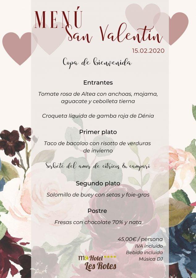 Imatge: Menú de Sant Valentí per al 15 de febrer - Hotel Les Rotes