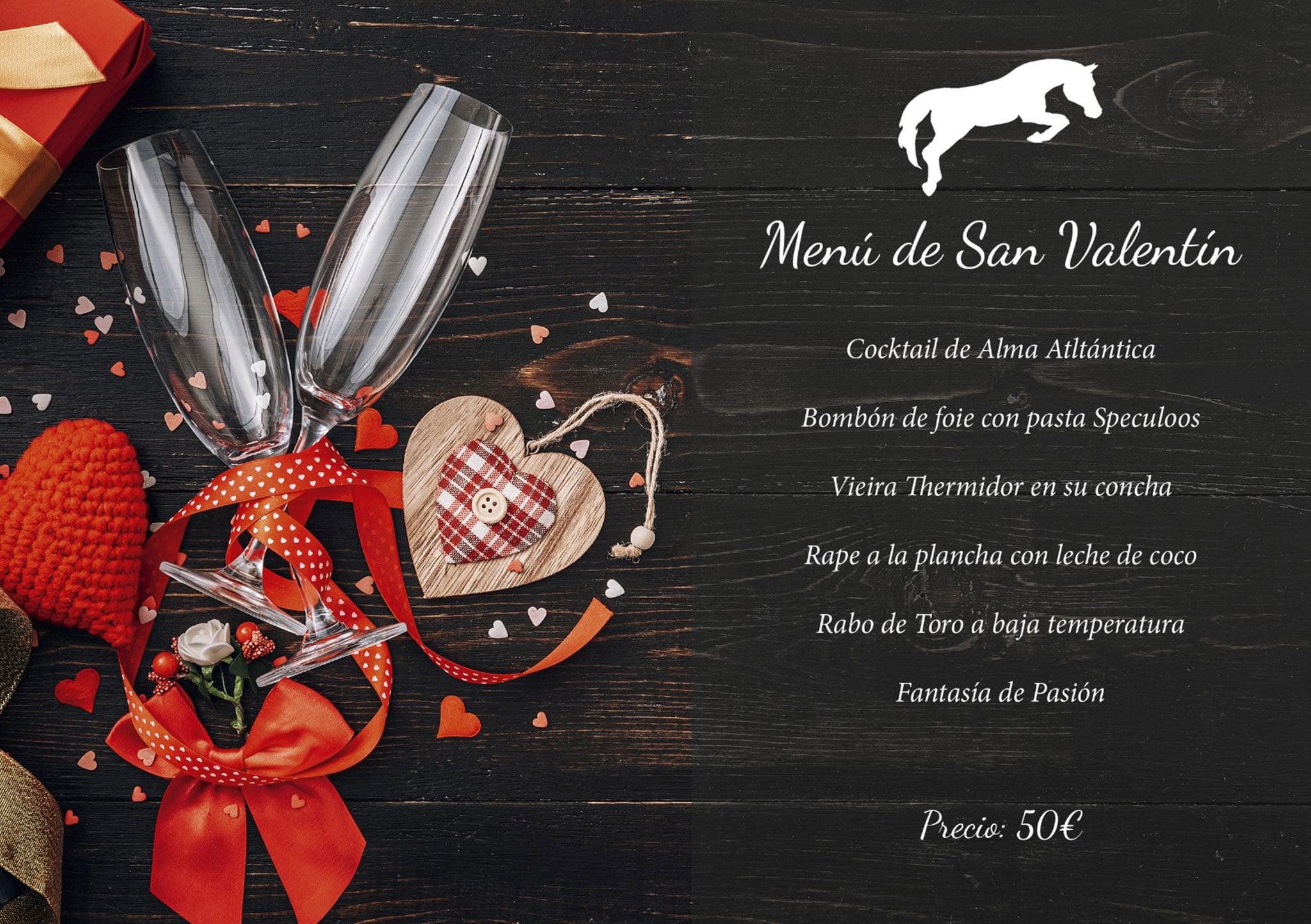 Menú de San Valentín en Restaurante Vall de Cavall