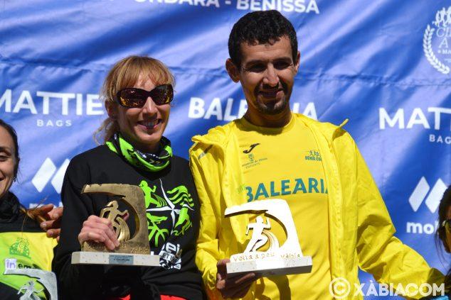 Imatge: Moha Rida i Mª Isabel Ferrer, campions de la Volta a Peu a Xàbia
