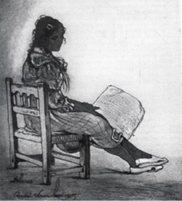 Imagen: Mujer con cesta - André Lambert (Foto: https://esthisart.blogspot.com/ Blog de Estudios Valencianos Histórico-Artísticos)