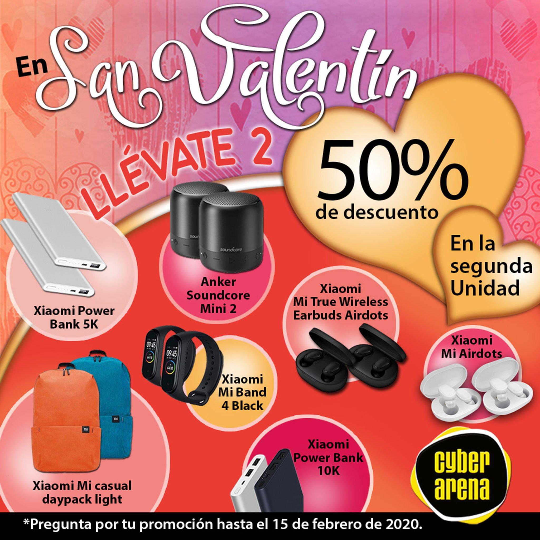 Oferta de Cyber Arena para San Valentín: 50% en la segunda unidad