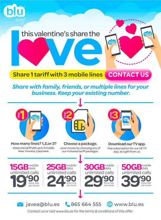 Bild: Valentinstagsangebot (auf Englisch) - Blu