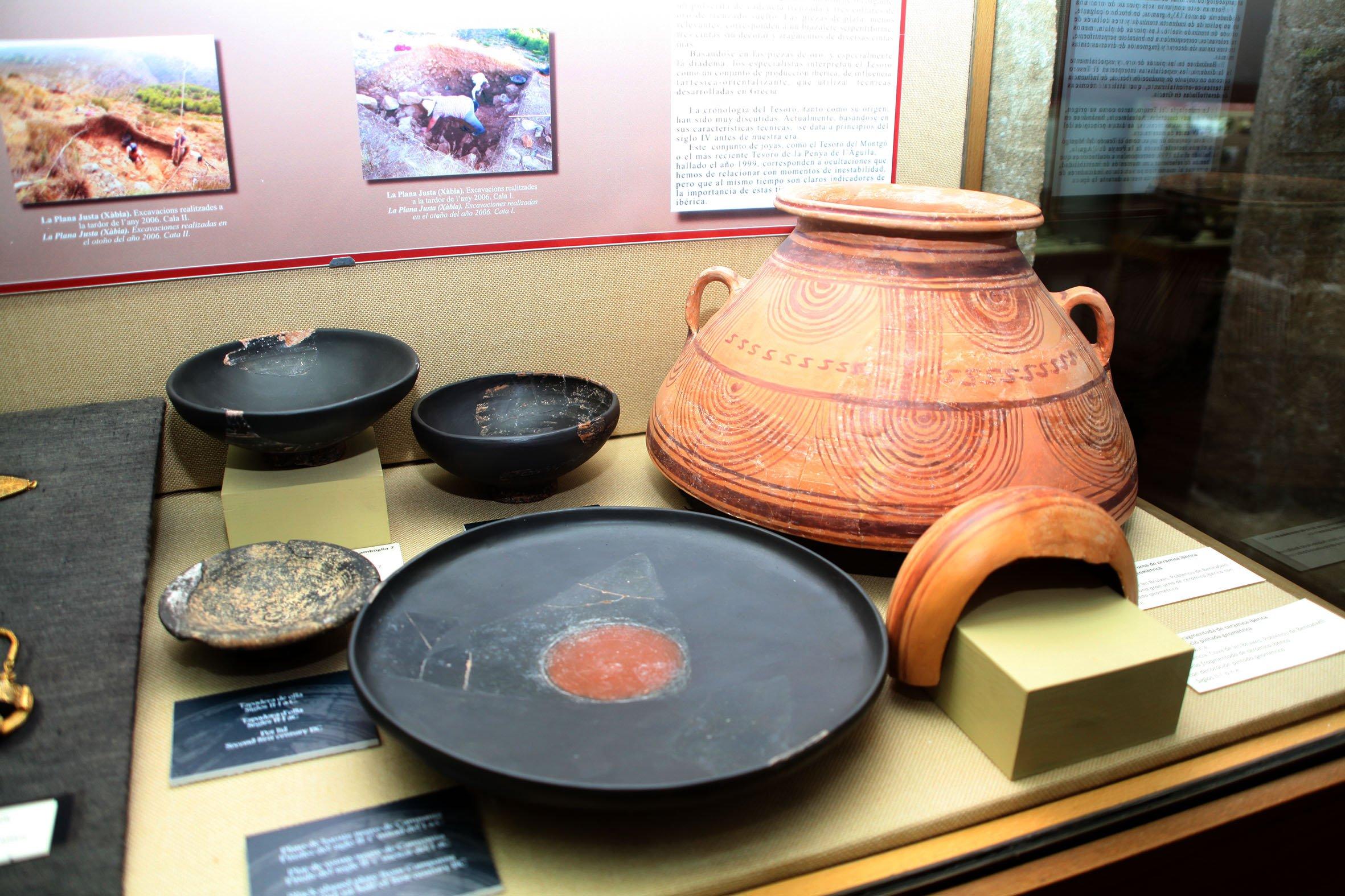 Piezas romanas halladas en Xàbia
