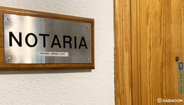 Imagen: Placa de la Notaría de Antonio Jiménez Clar