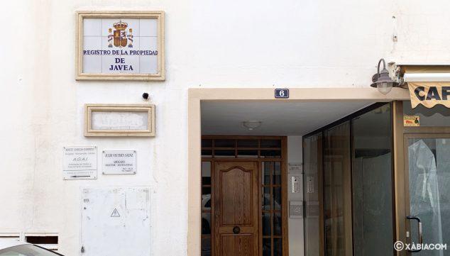 Imagen: Portal del Registro de la Propiedad Nº 2 de Jávea