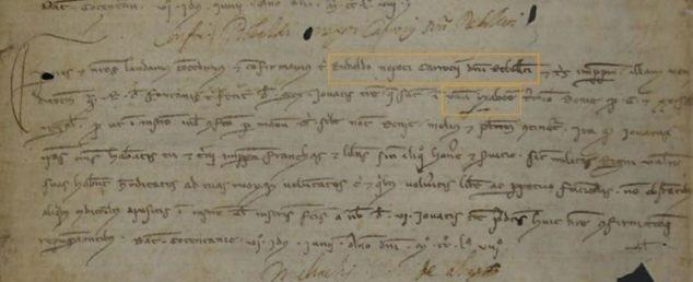 Imagen: Primer documento donde se menciona el nombre de Jávea