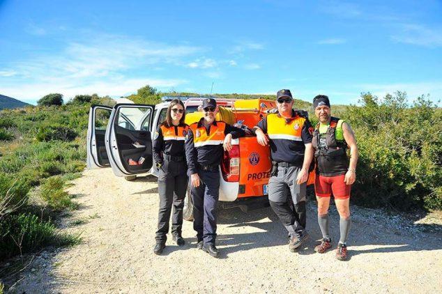 Imagen: Protección Civil en la Granadella Trail