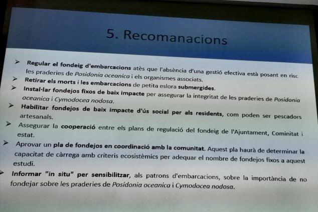 Imagen: Recomendaciones para cuidar la Posidonica