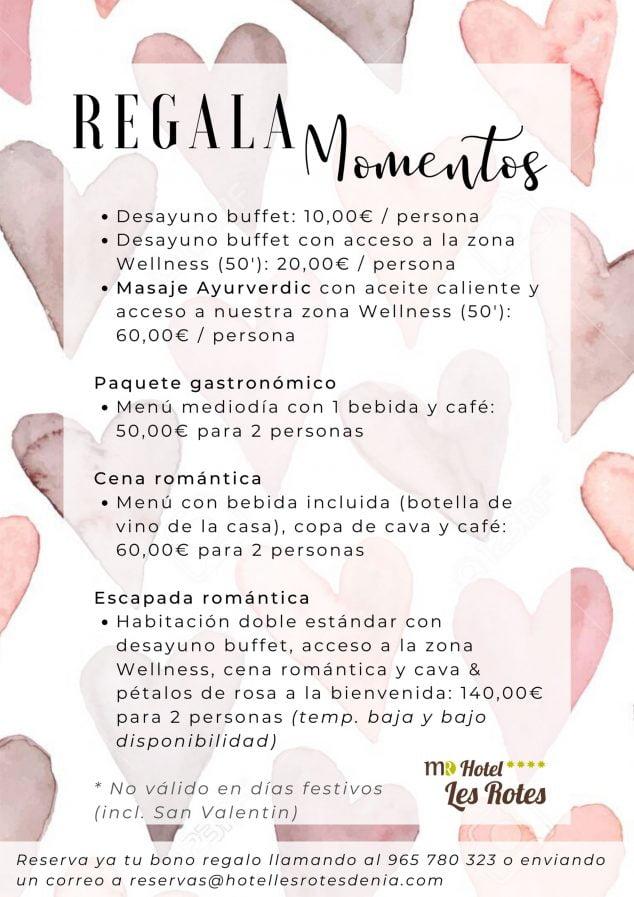 Imatge: Regala moments i experiències per al teu Sant Valentí a Dénia - Hotel Les Rotes