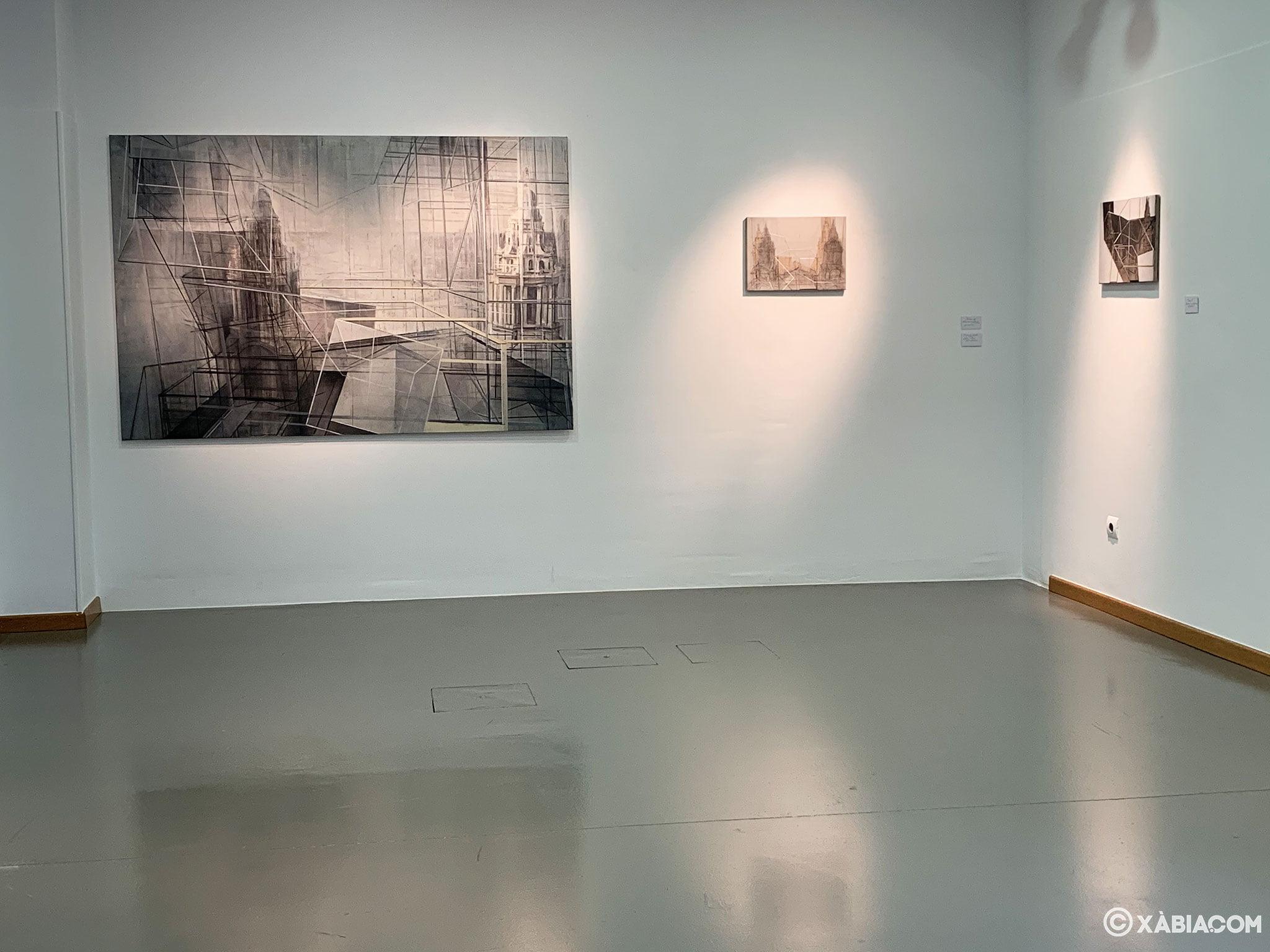 Una de las salas del Centre d'Art Ca Lambert en Xàbia