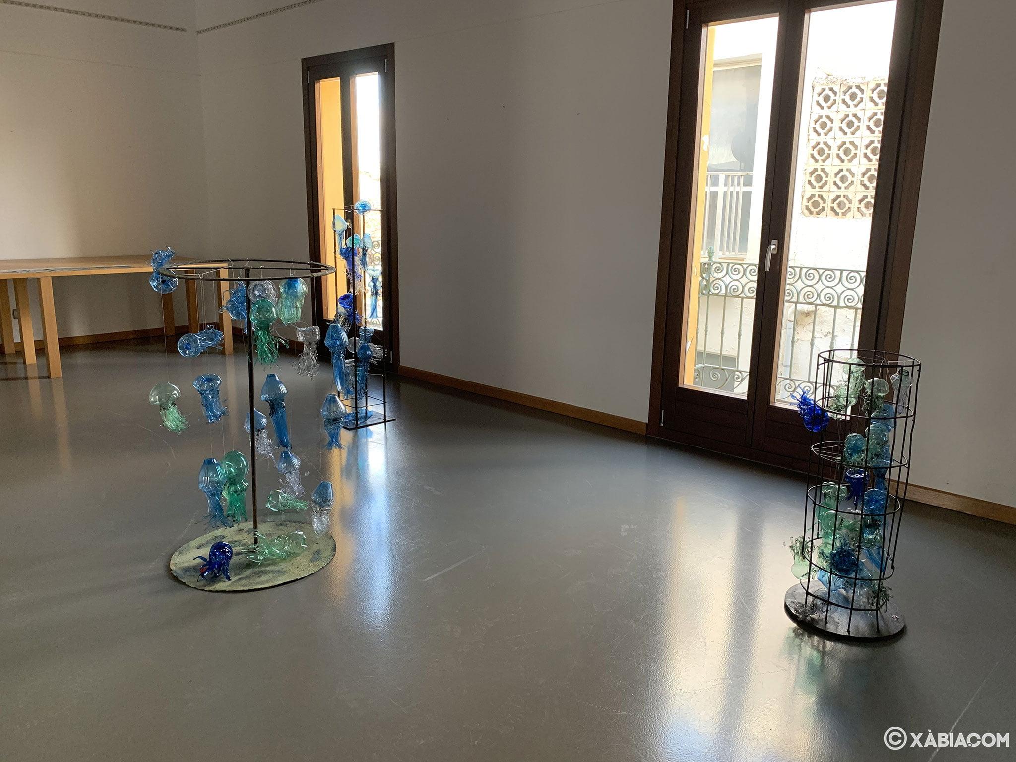 Sala de exposiciones en el Centre d'Art Ca Lambert de Jávea