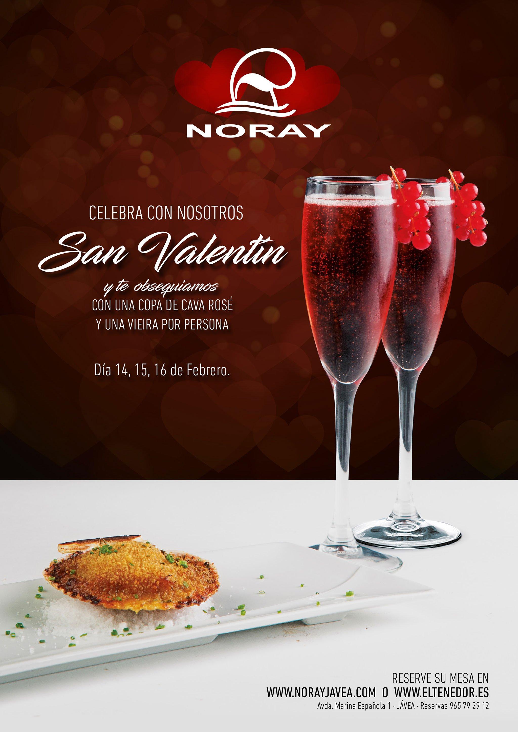 Invitación especial por San Valentín en Restaurante Noray