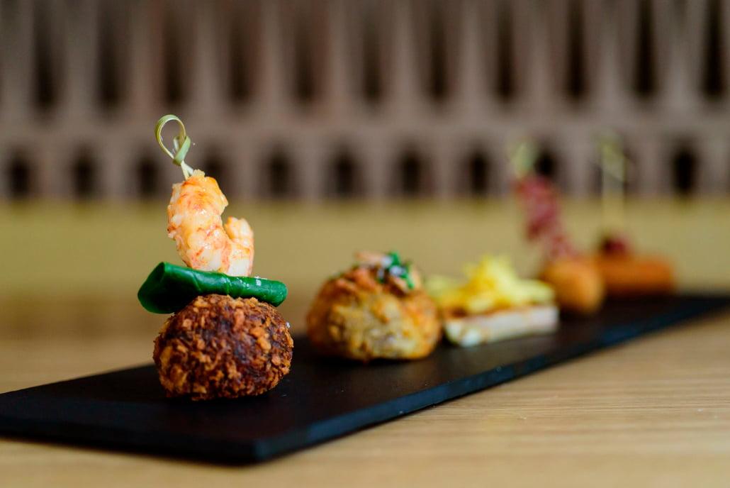 Selecció de croquetas – Restaurante Portitxol