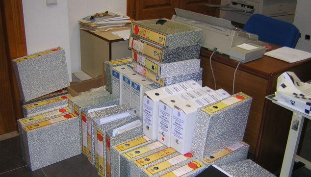 Imagen: Situación del Archivo de Xàbia en 2004