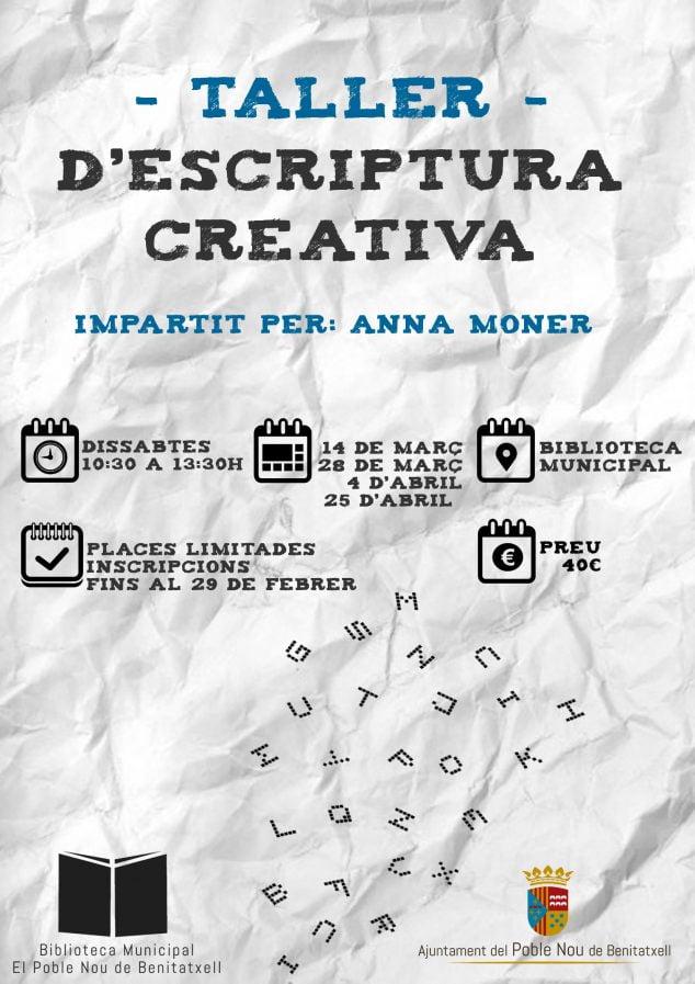 Imagen: Taller de escritura en El Poble Nou de Benitatxell