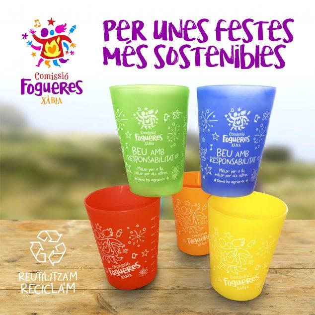 Imagen: Vasos reutilizables para fiestas