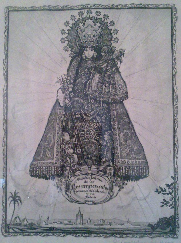 Imagen: Virgen de los Desamparados - André Lambert (Foto: https://esthisart.blogspot.com/ Blog de Estudios Valencianos Histórico-Artísticos)
