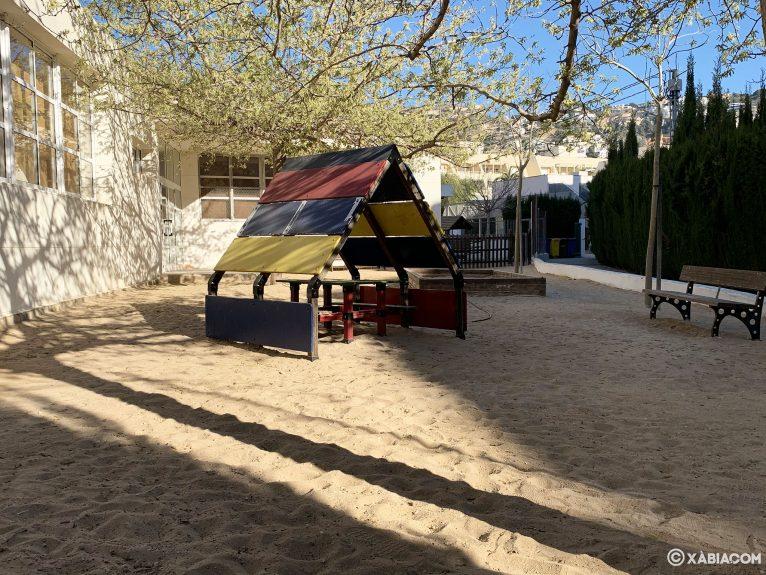 Zona con arena en el CEIP Port de Xàbia
