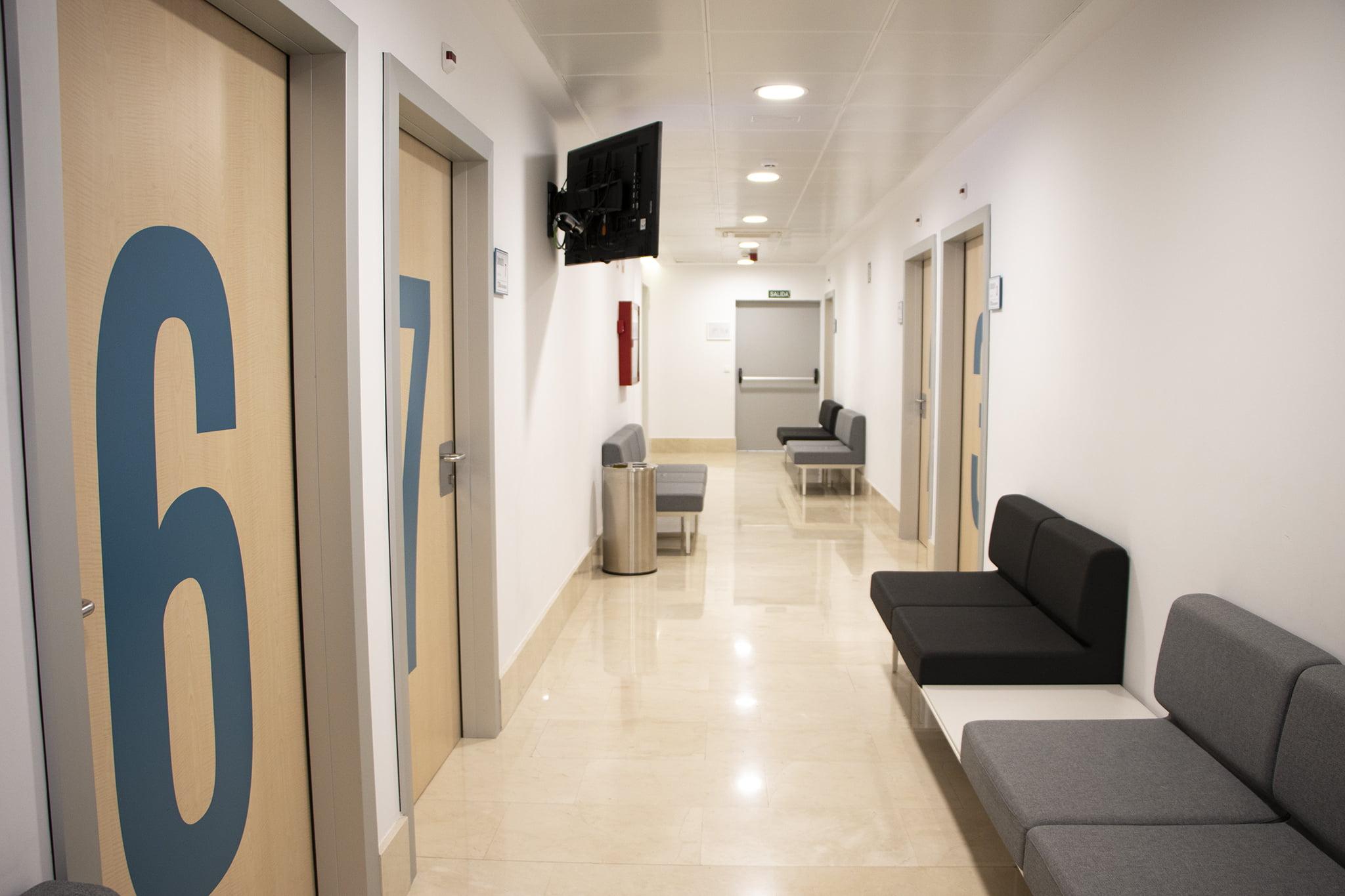 Zona de consultas especializadas – HLA San Carlos