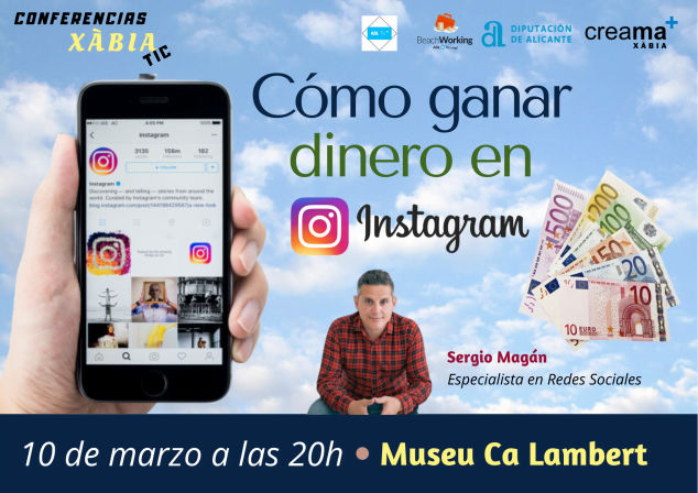Imagen: Charla Cómo ganar dinero en Instagram