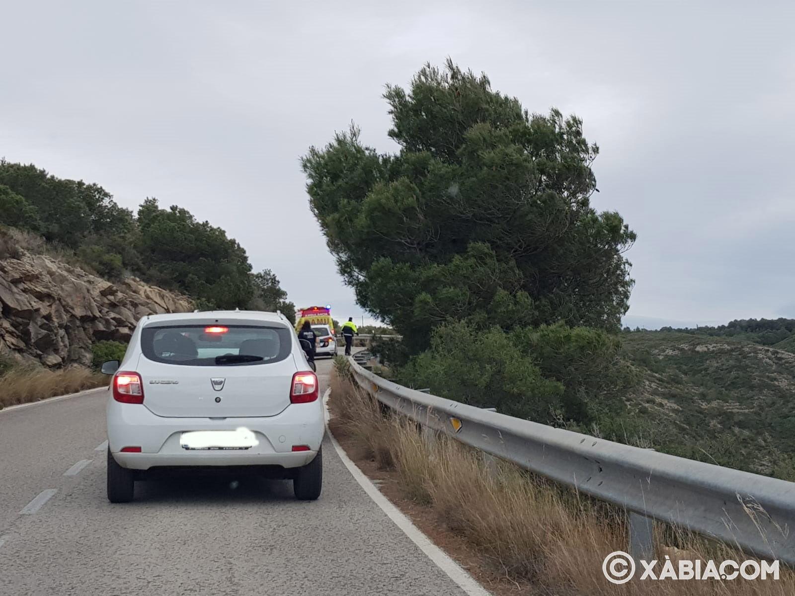 Accidente en la carretera de las planas
