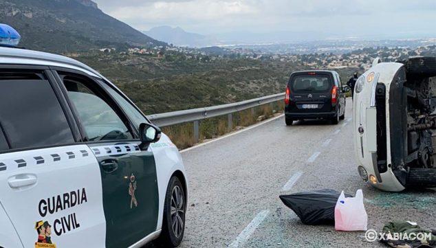 Imagen: Aparatoso accidente en la carretera de Les Planes