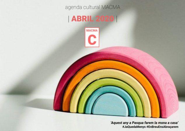 Imagen: Agenda virtual 2020 de Abril de la Macma
